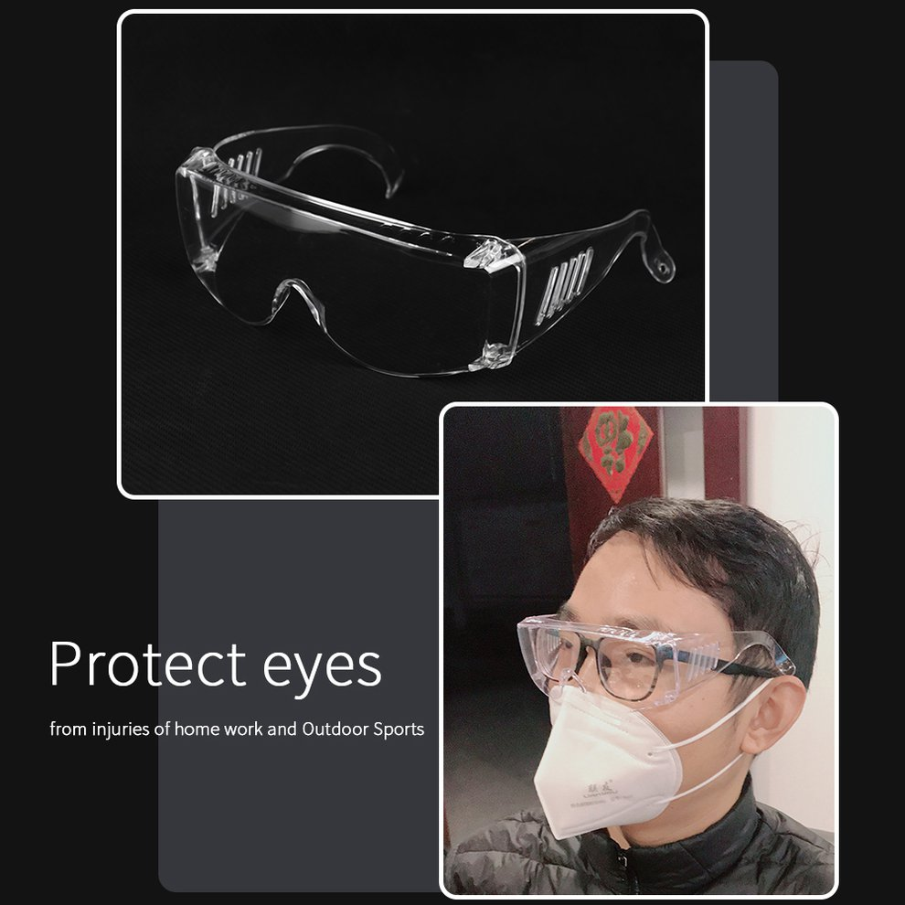 Anti-Spitting Safety Goggles Protective Anti-Fog Glasses Isolation Breathable Anti-Spit Goggles Fully Clear Vision Color Box A