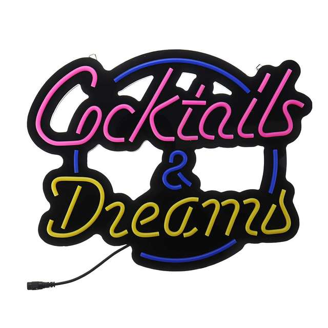 Cocktails & Dreams Neon Sign 8