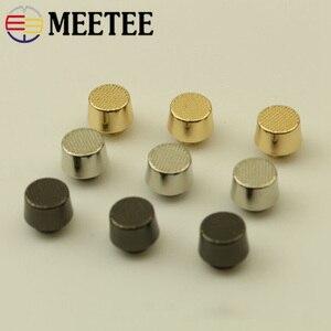 Meetee 10/20 sztuk 10mm płaskostopie do paznokci metalowa śruba torby z nitami zapięcie do dekoracji DIY rzemiosło skórzane pasek akcesoria BF719