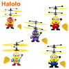 Halolo Mini drone RC Helicopter Aircraft Mini drone Fly Flashing helicopter Hand Control RC Toys Mini Quadcopter Dron Kids Toys