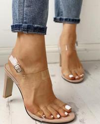 Популярные женские туфли-лодочки; пикантные Модные прозрачные туфли на каблуке; Повседневная прозрачная обувь; женские летние классически...