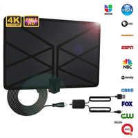 Antenne d'intérieur intelligente de HDTV de 520 Miles clair numérique avec l'amplificateur Signal Booster rayon Surf Fox HD Mini antenne parabolique aérienne