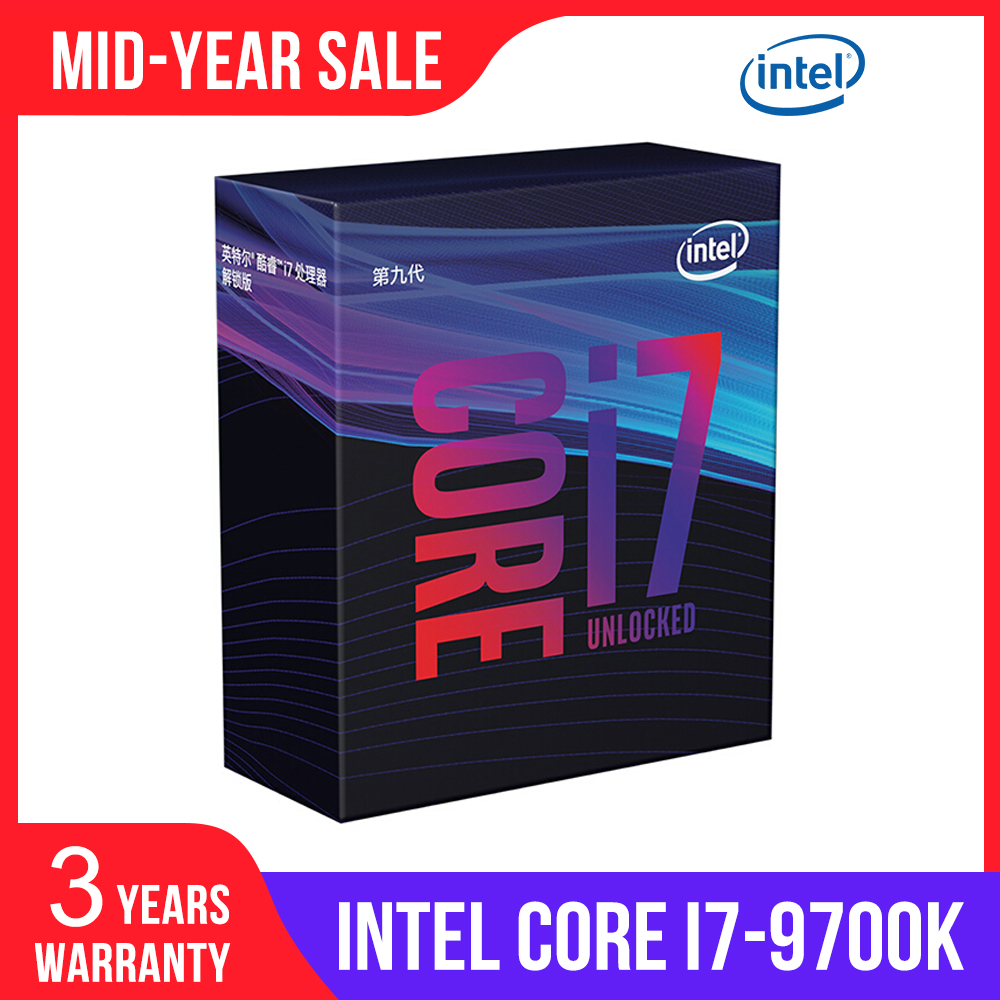 <font><b>Intel</b></font> Core i7-9700K Desktop Processor 8 Cores up to 3.6 GHz Turbo Unlocked LGA1151 300 Series 95W desktop <font><b>cpu</b></font> image