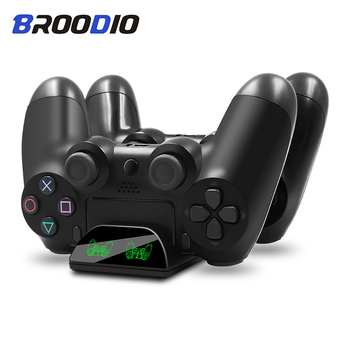 цена на PS4 Game Controller Charger Joystick Handle USB Charger Dual USB Charging Dock Stand Station For Playstation 4 PS4 Slim/ PS4 Pro