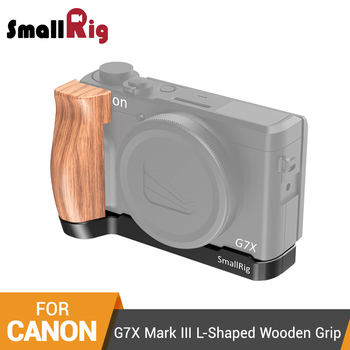SmallRig L-Shaped Plate Wooden Grip for Canon G7X Mark III L Bracket Plate With Wooden Handle Grip -2445