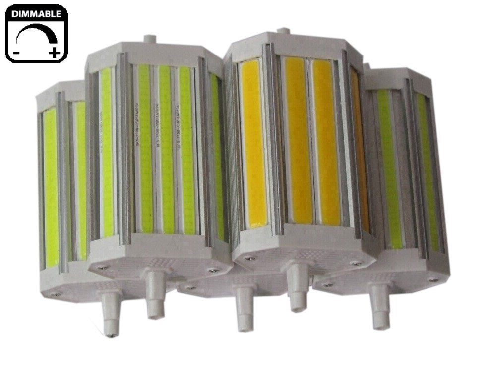 New design 30W R7S <font><b>led</b></font> light 118mm dimmable J118 COB R7S lamp without Fan replace 300W halogen lamp AC110-240V image
