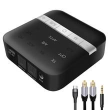 UGREEN Bluetooth 5.0 nadajnik-odbiornik APTX HD 2 w 1 bezprzewodowy Adapter Audio cyfrowy optyczny TOSLINK 3.5mm AUX Jack do telewizora PC