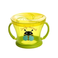 Baby food storage container, non spill, green