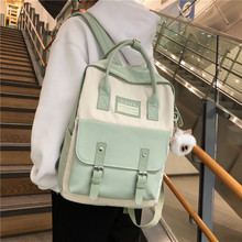 JULYCCINO Women Nylon Backpack Candy Color Waterproof School Bags for Teenagers Girls Patchwork Backpack Female Rucksack Mochila