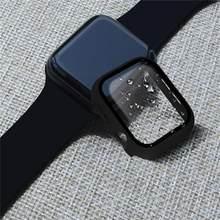 Szkło + etui do Apple Watch serie 44mm 40mm iWatch etui 42mm 38mm osłona ekranu zderzaka + osłona Apple watch 6 5 4 3 SE akcesoria