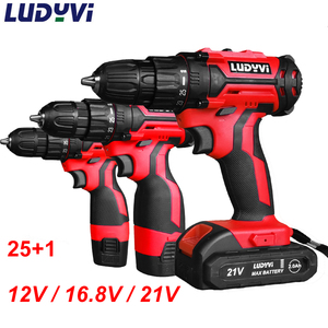 New Cordless Drill 12V/16.8V / 21V 2-Speed Electric Screwdriver Mini Wireless Lithium-Ion Battery 3/8-Inch Power Tools