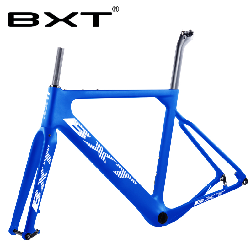 T800 Carbon Road MTB Gravel Bike Frame Thru Axle 142*12mm Disc Cyclocross Frame Gravel 700C Frame Di2 Carbon Bicycle Frameset