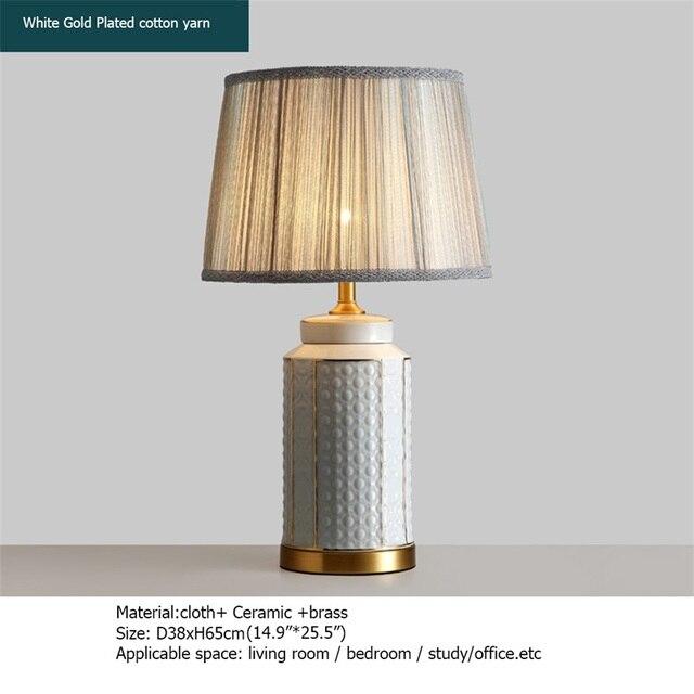 Купить латунные настольные лампы oufula керамический светильник для картинки цена