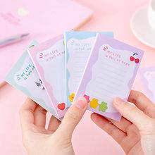 Coreia flores frutas auto vara notas auto-adesivo nota pegajosa bonito bloco de notas postado almofadas de escrita adesivos papel 100 folhas/almofada