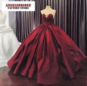 Бальное атласное платье Quinceanera, бальное платье с аппликацией в виде сердечек, вечерние платья принцесс, онлайн-распродажа, 2020