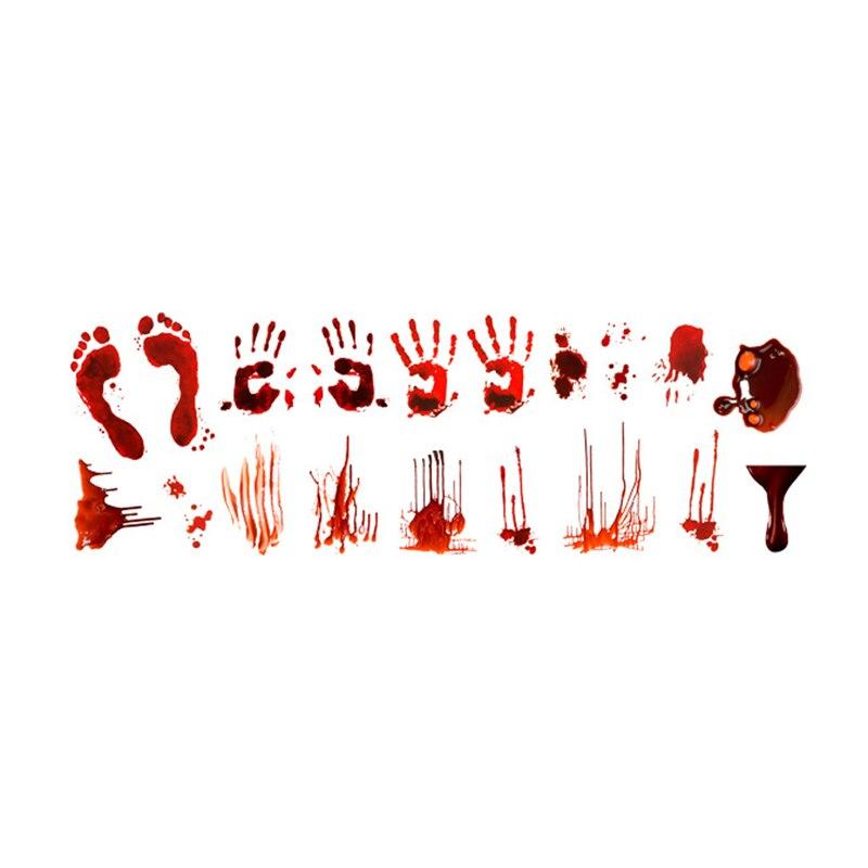 Autocollant mural créatif Chic en PVC Halloween sanglant goutte à goutte impression à la main autocollants de fenêtre décorations d'halloween peintures murales n