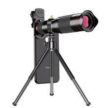 48x 4k hd telescópio para celular celular lente da câmera do telefone móvel + tripé monocular telefoto zoom lentes para iphone smartphone