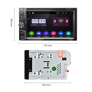 Image 2 - Podofo 2 Din Android 6.0 Car DVD Player GPS Bluetooth Touch Screen Car Stereo MP3 MP4 Car Multimedia Player Support Mirror Link