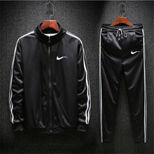 цена на Men's Sports Suits Breathable Tracksuits Sport Suit Mens Running Suit Quick Dry Plus Size Mens Fitness Jogging Gym Men Windproof Tracksuit Sets Zipper Outdoor Sportwear Sets