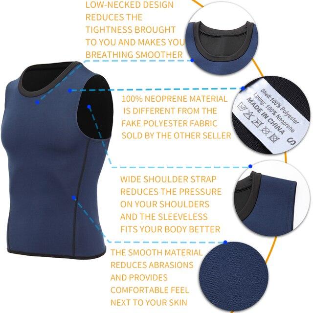 Men Workout Body Shaper Waist Trainer Tummy Slimming Sheath Abs Abdomen Shapewear Tops Slimming Trimmer Belt Vest Sweat Corset 4