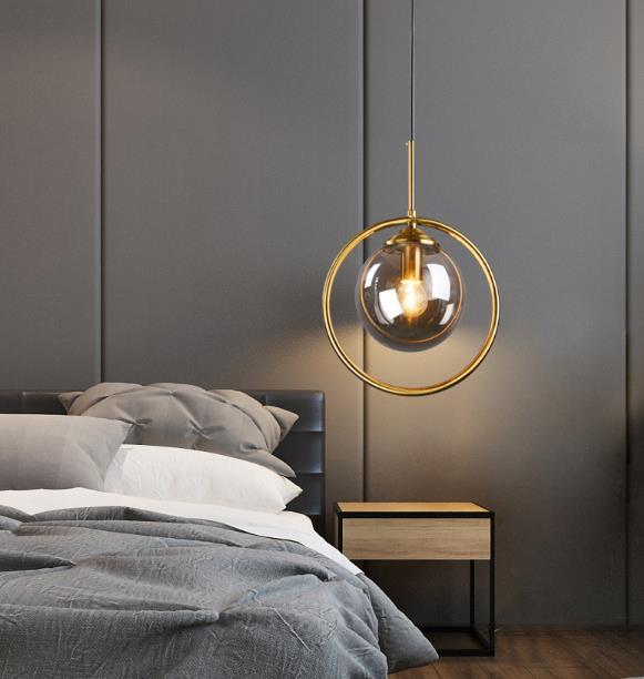 Modern Simple Bedroom Bedside Chandelier Lighting Bedroom Lustres Ceiling Led Lamp Night Light  Luminaria Cafe Bar Lanterns