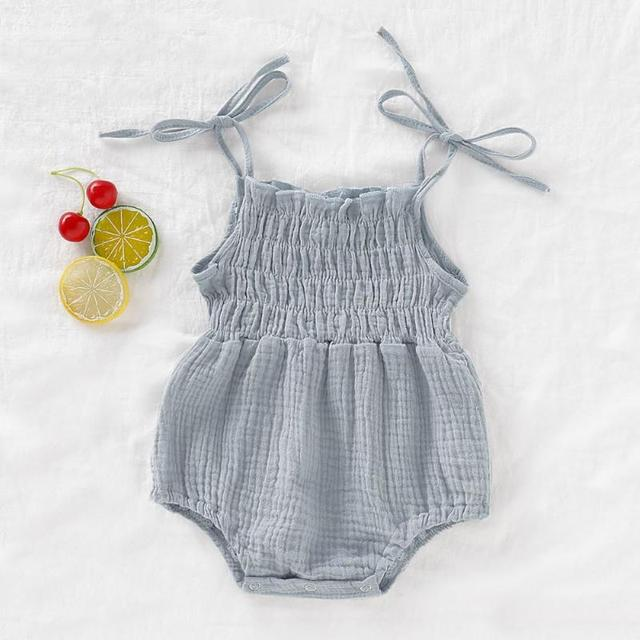 1PC Baby Triangle Romper Summer Infant Unisex Newborn Sleeveless Girls Print Rompers Jumpsuits Baby Cotton Soft Clothes Outfits 2