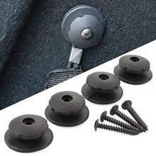 4 Uds. Red de carga para el coche ganchos de repuesto Kit de Hardware montaje de gancho de coche para coche cargador trasero organizador de almacenamiento de maletero Net