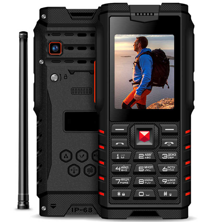 "Ioutdoor 4500mAh IP68 Impermeabile shockproof Russo tastiera rugged Mobile Phone 2.4 ""Walkie-talkie citofono FM cellulare"