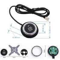 12 v botão de parada partida do motor do carro botão alarme universal rfid bloqueio escuro antiroubo dispositivo keyless sistema porta tátil botão