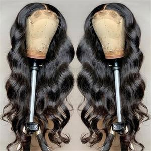 Image 5 - 360 תחרה פרונטאלית פאה עם תינוק שיער רמי ברזילאי גוף גל 150% 13x4 תחרה מול שיער טבעי פאות 4x4 סגירת פאות