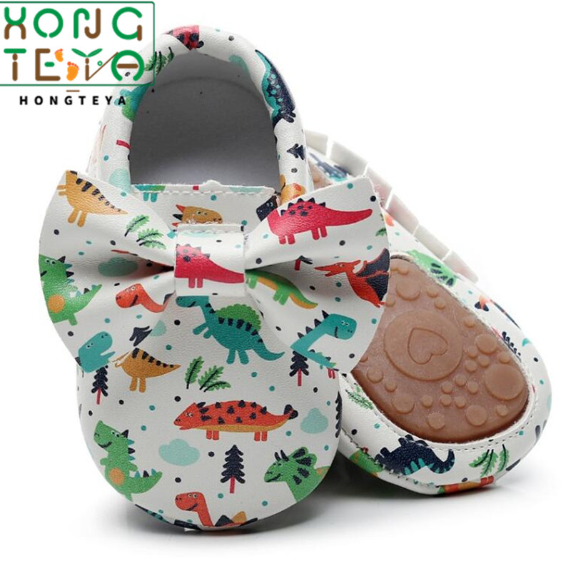 2020 New Arrival Toddler Newborn Baby Boys Girls Animal Crib Shoes Infant Cartoon Baby Moccasins With Hard Rubber Sole Non-slip