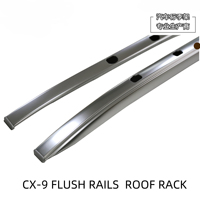 Roof Rails Rack Flush rails Carrier Bars For MAZDA cx9 CX 9 (TC) [2016 today] SUV, 2016 2017 2018 2019 Double Cabin