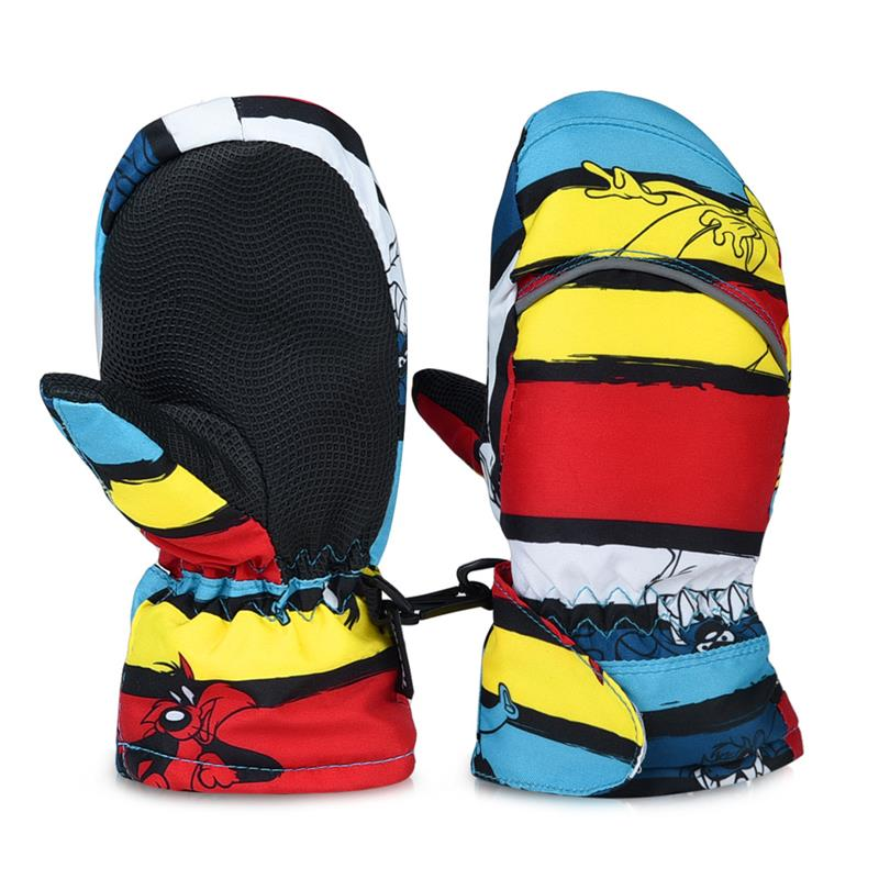 RUNACC Skiing-Skating-Gloves Waterproof Full-Finger-Mittens Warm Winter with Fleece Lining