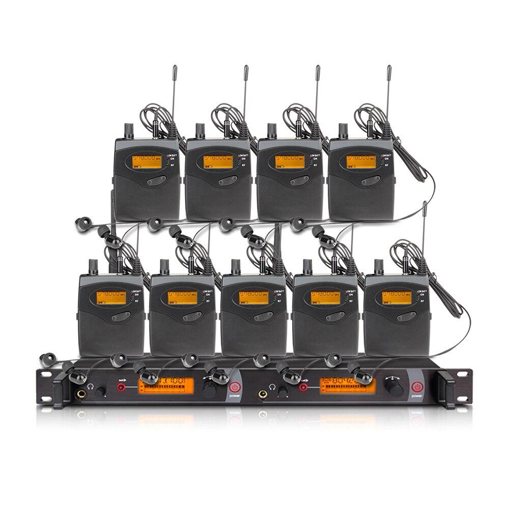 EM-2051 wireless in-ear monitoring system, professionelle bühne leistung überwachung system mit 10 bodypack sender