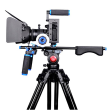 цена Pro Camera Rig Cage Shoulder Mount Video Rig For Canon 5D Mark III IV 6D 7D Nikon Sony A7 GH5 GH4 DSLR Cameras and DV Camcorders онлайн в 2017 году