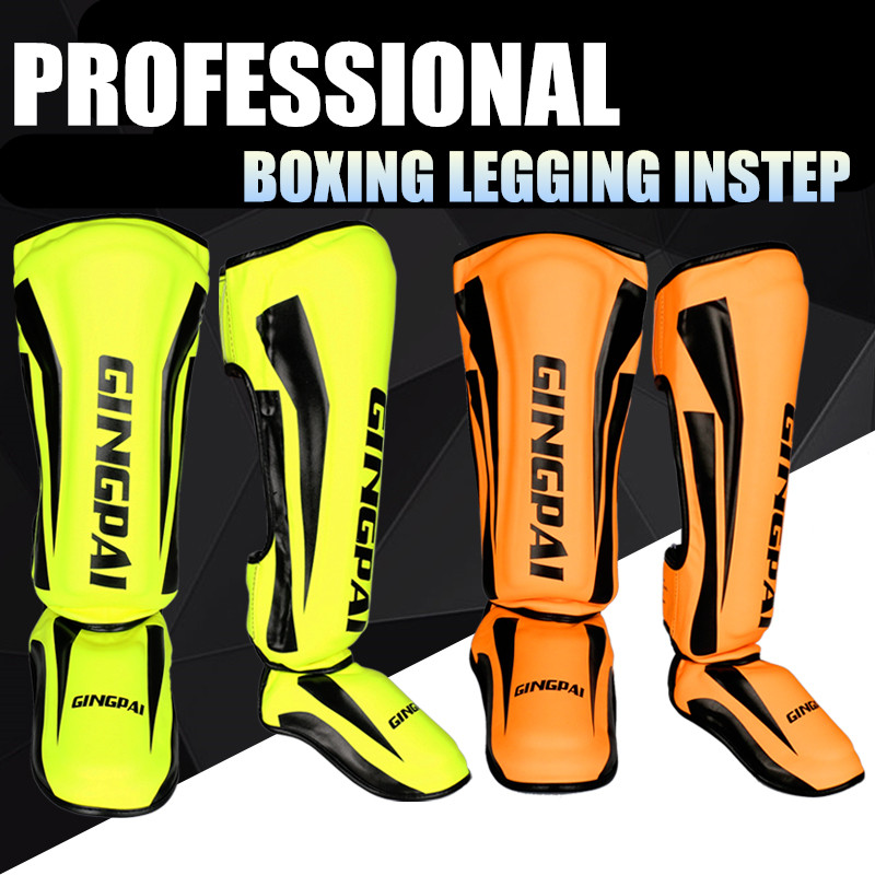 Instep Shin Guard Sanda Taekwondo Muay Thai MMA Boxing Sports Safety Gear