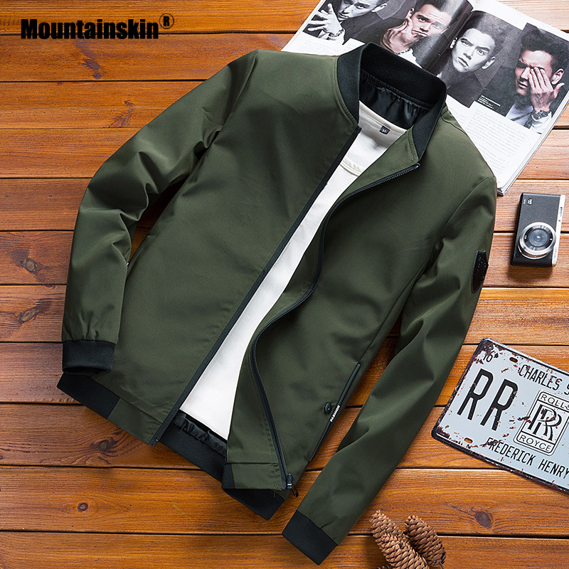Mountainskin Spring Mens Bomber Jackets Male Fashion Streetwear Hip Hop Coats Men Outwear Thin Slim Jacket Brand Clothing SA676