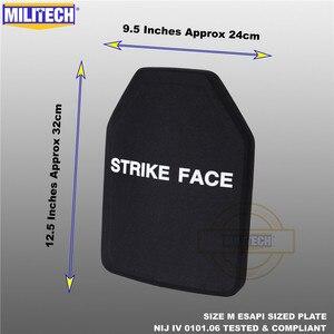 Image 2 - ESAPI Bulletproof Plate Ballistic Panel NIJ level 4 IV Alumina & PE Stand Alone Two PCS From Size S to XL Body Armor  Militech