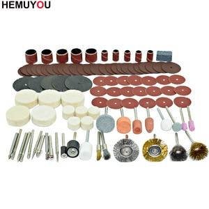 Image 2 - 100pcs/חרט שוחקים כלים אביזרי Dremel רוטרי כלי אבזר סט מתאים עבור Dremel תרגיל שחיקה ליטוש ראה להב