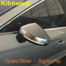 Dinâmica A3 8V S3 RS3 blinker para Audi S linha Espelho Lateral luz LEDTurn Signal 2013 2014 2015 2016 2017 2018 2019 2020