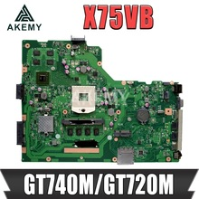 Laptop Mainboard HM70 X75VD for ASUS X75vd/X75v/Original GT740M/GT720M 4GB-RAM