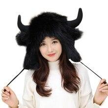 Искусственные меховые наушники, шапки для женщин, теплые пушистые наушники, подшлемник, зима, осень, gorras, шапка, женская дропшиппинг