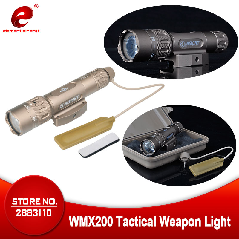 Night Evolution WMX200 Airsoft Military Tactical Gun Led Flashlight Strobe IR Light for Picatinny Rail Hunting Spotlight NE04014
