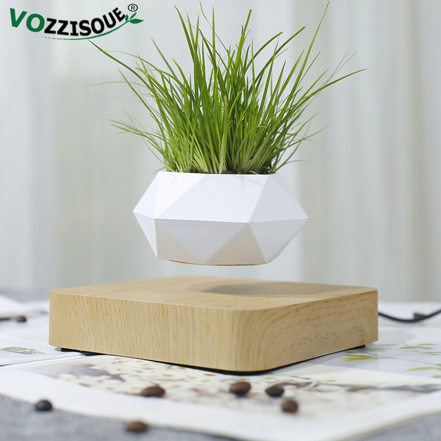 Hot Sale Levitating Air Bonsai Pot Rotation Planters Magnetic Levitation Suspension Flower Floating Pot Potted Plant Desk Decor 4