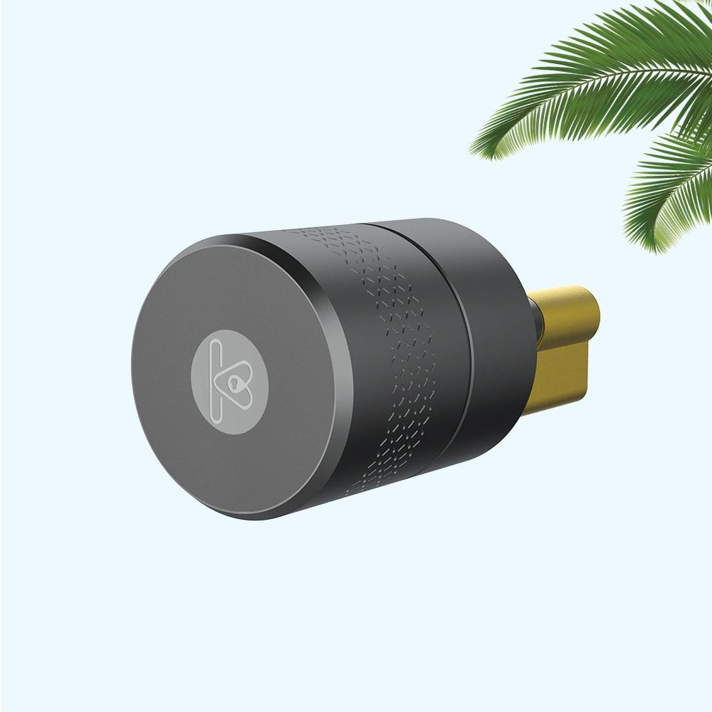 TUYA Smart Lock Cylinder Zigbee Wireless Smart Fingerprint Lock Phone Control Stainless Steel For Door Lock Modification Upgrade