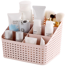 Hoomall Home Office Stationary Storage Container Box Plastic Hollow Makeup Organizer 5 Grids Desktop Sundries Storage Basket