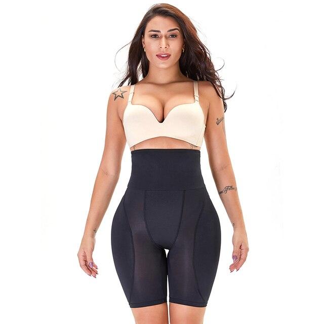 High Waisted Waist Trainer Shapewear Body Tummy Shaper Fake Ass Butt Lifter Booties Hip Pads Enhancer Booty Lifter Thigh Trimmer 4
