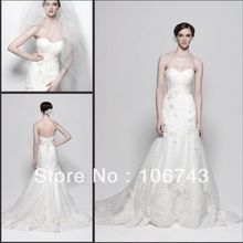 free shipping 2018 new style hot sale Sexy bridal gown sweet princess Custom size embroidery cheap