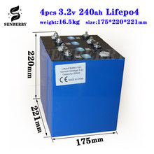 NEW 4PCS Lifepo4 3.2v200ah new lifepo4 rechargeable battery 3.2v200ah battery, suitable for 12v200ah solar US Europe TAX FREE