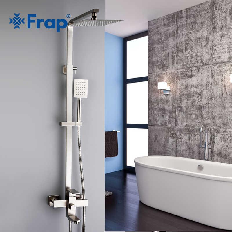FRAP baterie prysznicowe najwyższa jakość współczesny prysznic kran do łazienki zestaw mieszający bateria natryskowa system bateria ze stali nierdzewnej
